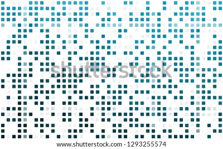 Light BLUE vector seamless backdrop with rectangles, squares. Rectangles on abstract background with colorful gradient. Pattern for design of window blinds, curtains.