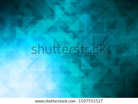 Light BLUE vector shining pattern. Geometric illustration in Origami style with gradient.  The template can be used as a background for cell phones.