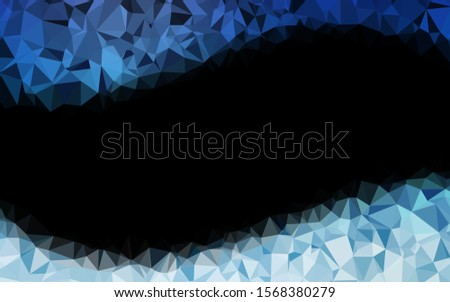 Light BLUE vector shining triangular background. Shining colored illustration in a Brand new style. Brand new design for your business.
