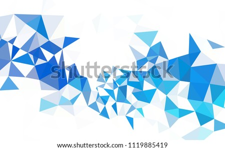 Light BLUE vector shining triangular layout. Glitter abstract illustration with an elegant triangles. Best triangular design for your business.