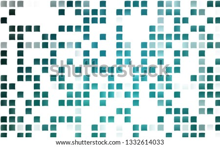 Light BLUE vector template with crystals, rectangles. Rectangles on abstract background with colorful gradient. Smart design for your business advert.