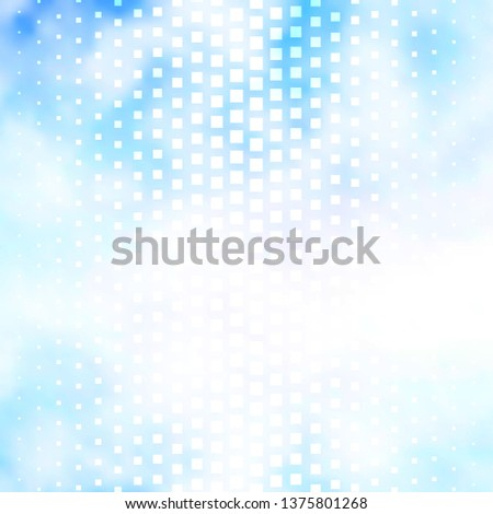 Light BLUE vector template with rectangles. Rectangles with colorful gradient on abstract background. Design for your business promotion.