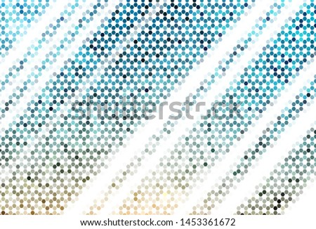 Light BLUE vector texture with colorful hexagons. Colorful hexagons on blur backdrop. Design for website posters, banners.