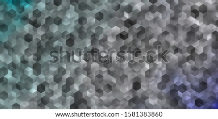 Light Blue vector texture with colorful hexagons. Colorful hexagons on blur backdrop. Design for your business advert.