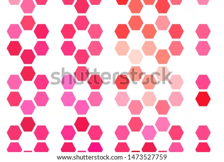 Light BLUE vector texture with colorful hexagons. Colorful hexagons on blur backdrop. New template for your brand book.