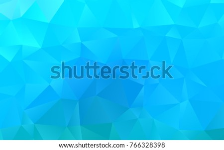Light BLUE vector triangle mosaic background. A sample with polygonal shapes. The completely new template can be used for your brand book.