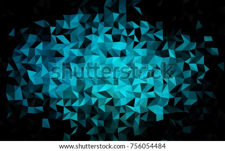light blue vector triangle