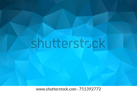 Light BLUE vector triangle mosaic pattern. Creative geometric illustration in Origami style with gradient. A completely new template for your business design.