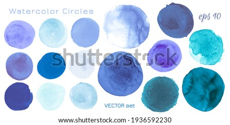 Light Blue Watercolor Dots. Abstract Hand Paint Spots on Paper. Art Drops Illustration. Acrylic Watercolor Dots. Isolated Splash Texture. Indigo Blots. Grunge Shapes. Watercolor Dots.