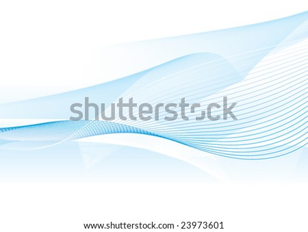 Light blue wave - stock vector