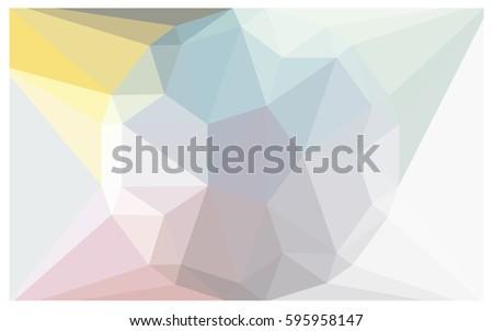 light blue  yellow  pink vector