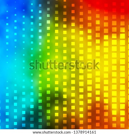 Light Blue, Yellow vector backdrop with rectangles. Rectangles with colorful gradient on abstract background. Pattern for websites, landing pages.