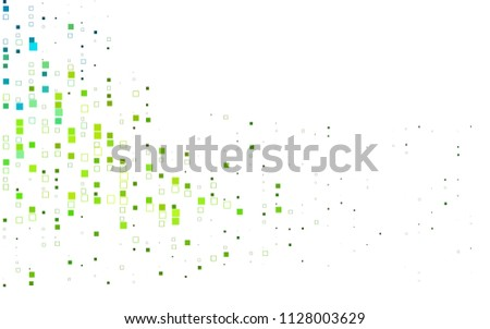 Light Blue, Yellow vector background of rectangles and squares. Style quilt and blanket. Geometrical rectangular pattern. Repeating pattern with rectangle shapes.