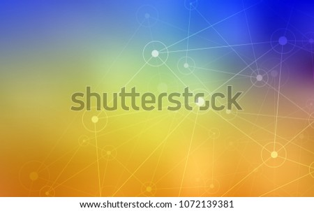 light blue  yellow vector