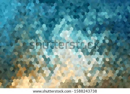 Light Blue, Yellow vector background with hexagons. Colorful hexagons on blur backdrop. Pattern for your ad, booklets.