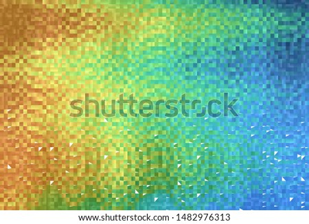 Light Blue, Yellow vector background with rectangles. Rectangles on abstract background with colorful gradient. Modern template for your landing page.