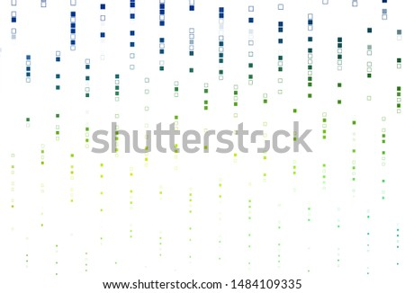Light Blue, Yellow vector background with rectangles. Rectangles on abstract background with colorful gradient. Background for cell phones.