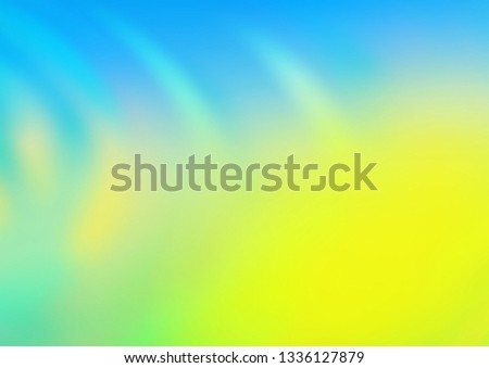 Light Blue, Yellow vector modern elegant template. An elegant bright illustration with gradient. A new texture for your design.
