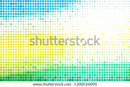 Light Blue, Yellow vector template with crystals, rectangles. Rectangles on abstract background with colorful gradient. Pattern can be used for websites.