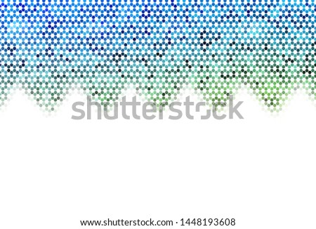 Light Blue, Yellow vector texture with colorful hexagons. Colorful hexagons on blur backdrop. Design for your business advert.
