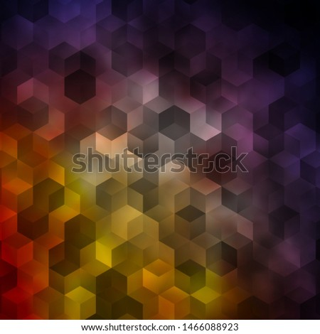 Light Blue, Yellow vector texture with colorful hexagons. Colorful hexagons on blur backdrop. Pattern for your ad, booklets.