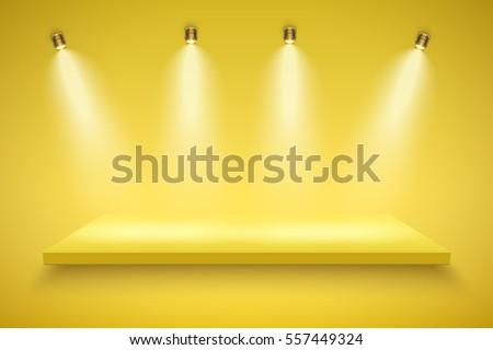 light box with yellow platform