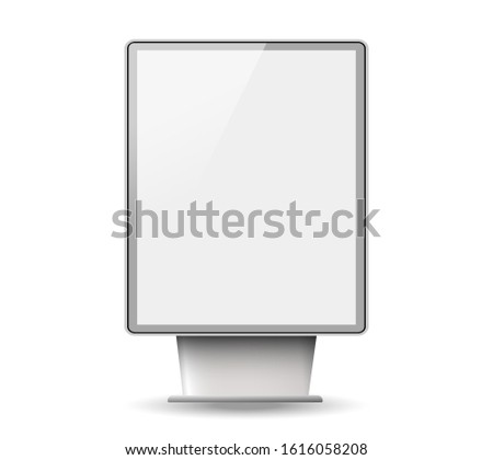 Light boxes template.Signboard and announcement lightbox screen.Realistic boards for advertising and design, signboard and announcement lightbox screen.