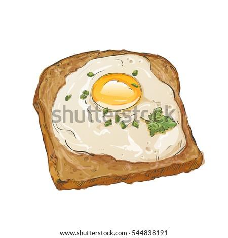 light breakfast toast brown