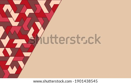 Light brown abstract background with bright geometric polygonal asymmetric pattern. Vector template. Foto stock ©