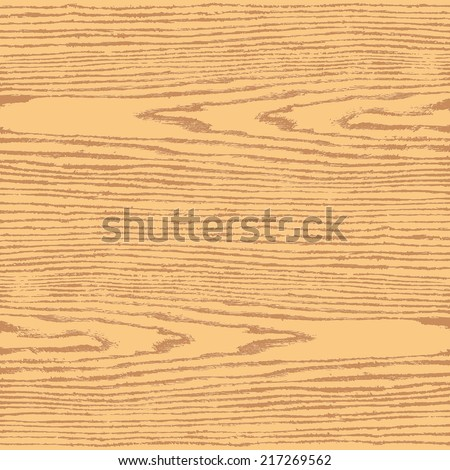 Light brown color wood texture background in square format. Natural pattern swatch template in flat style. Realistic plank with annual years circles. Design elements save in vector illustration 8 eps