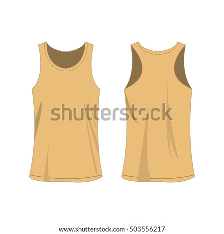 light brown sport top isolated