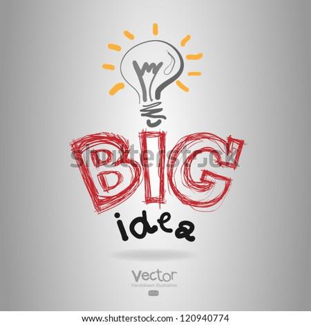 light bub the big idea concept - stock vector