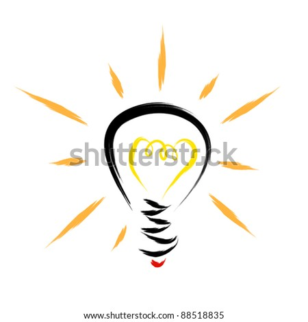 light bulb abstract illustration
