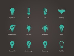 Light bulb and LED lamp. Vector illustration.