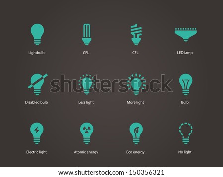 light bulb and led lamp vector