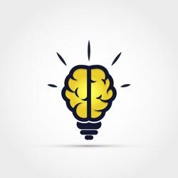 Light bulb brain icon