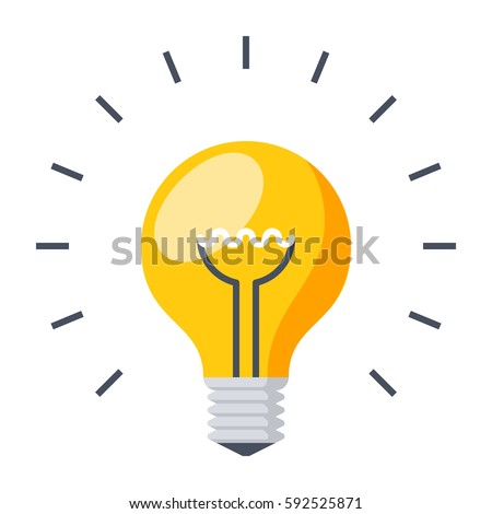 Light bulb, creative idea and innovation,vector illustration in flat style