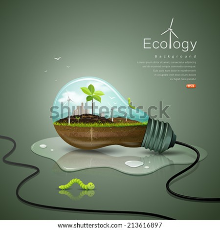 light bulb ecology concept