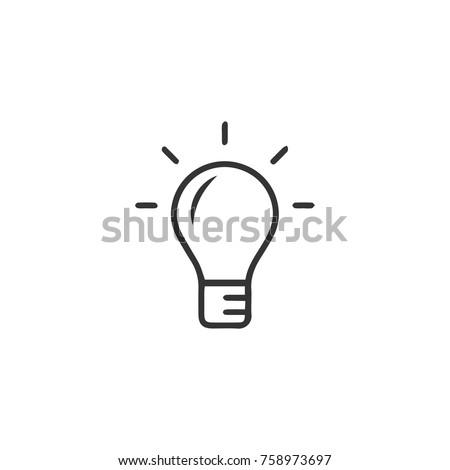 Light bulb icon black