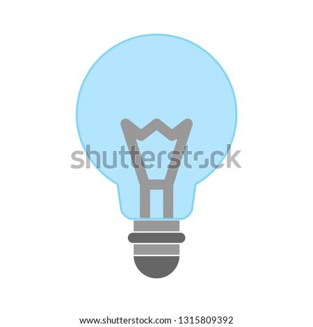 light bulb icon- idea isolated , idea illustration - Vector idea concept. electricity sign symbol