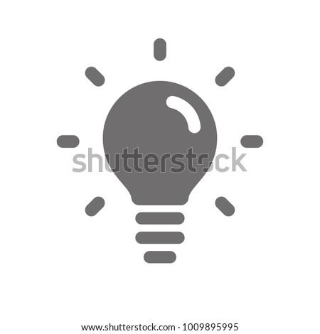 Light bulb icon, idea symbol