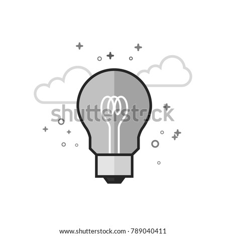 light bulb icon in flat