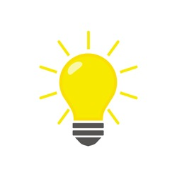 Light bulb icon isolated on white background. Vector illustration. Eps 10.