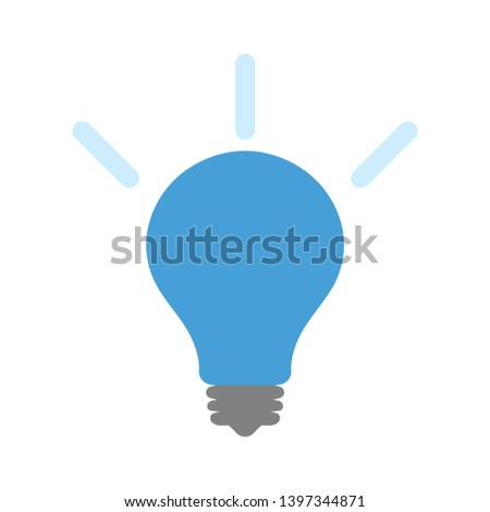 Light Bulb icon. Lamp sign. Idea, Solution or Thinking symbol. Classic flat style. flat light bulb icon. Vector