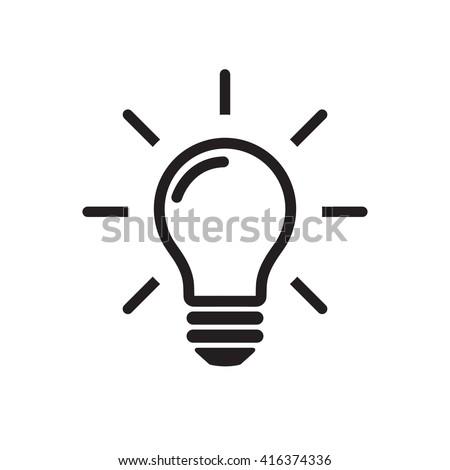 light bulb icon  light bulb