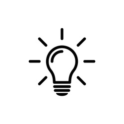 Light Bulb Icon Line Vector Illustration
