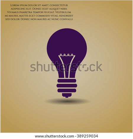 Light bulb icon or symbol