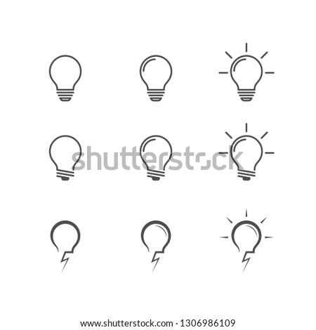 Light bulb icon set . Vector . EPS 10