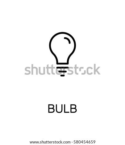 Light bulb icon. Single high quality outline symbol for web design or mobile app. Thin line sign for design logo. Black outline pictogram on white background