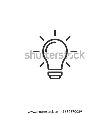 light bulb icon template color editable. light bulb symbol vector sign isolated on white background.